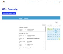 OSL Website Calendar