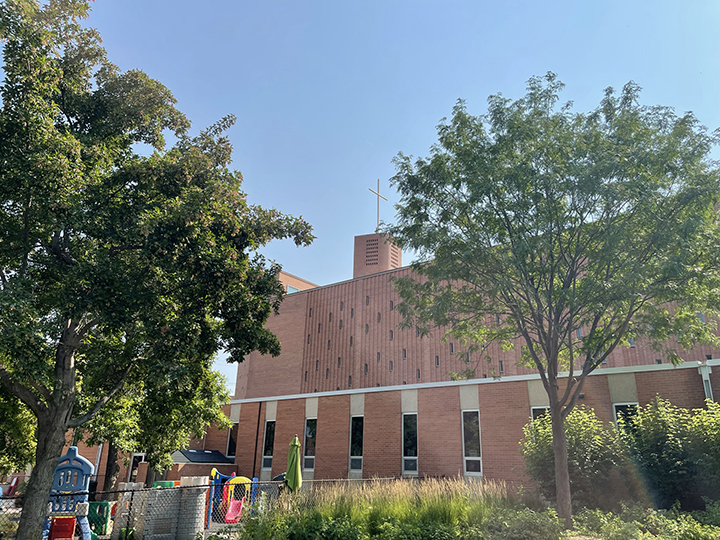 Bell Tower repair, July 28, 2021