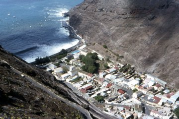 St Helena Jamestown from above