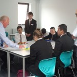 Students and OSL's Mathew Conway at Crewe Engineering and Design UTC
