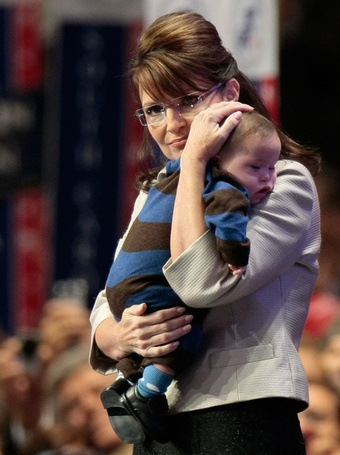 Sarah Palin se synem Trigem (foto Getty Images)