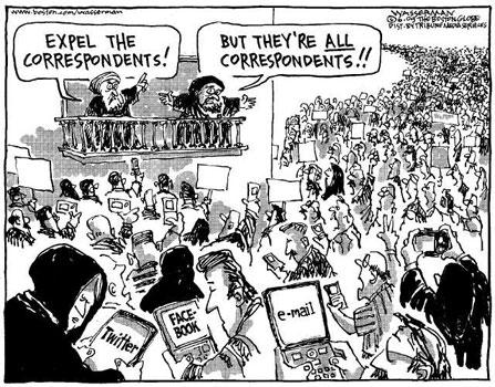 Vykažte korespondenty! Ale oni jsou VŠICHNI korespondenti!! (tehranbureau.com)