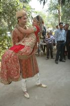 Our friend's Nirali and Paresh in Solah Shringar at their wedding