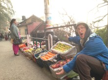 Fruit stands in the mountains??