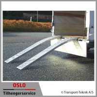 Oppkjøringsramper aluminium buet