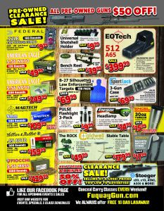 Fuquay Gun and Gold SMITH & WESSON Sale Direct Mail Flyer