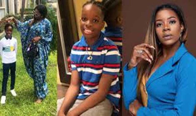 Singer Wizkid's first babymama, Shola, warns ladies sending nudes to their 9-year-old son, Tife