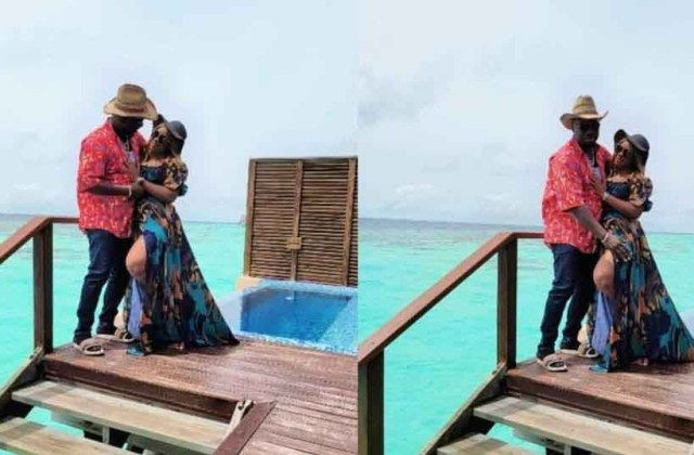 Obi Cubana and wife vacation in Maldives Islands days after mother's funeral (photos)