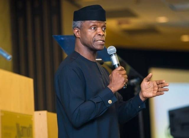 You can't make changes without joining politics – VP Osinbajo tells Nigerian youths