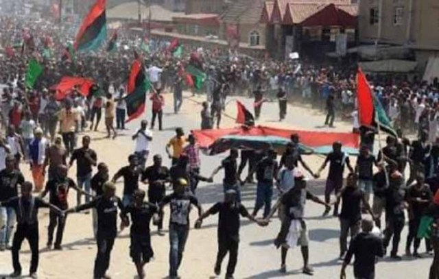 IPOB insists on removal of Nigerian flags in S/East, commends churches, others for complying