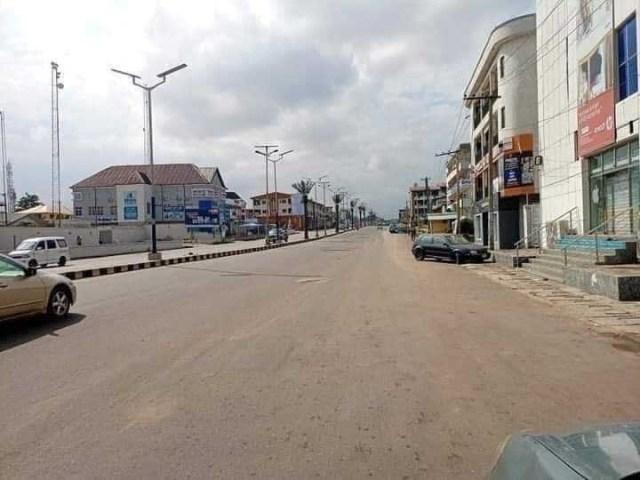 Total lockdown in Owerri as Buhari visits Imo