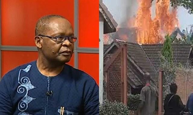 BREAKING: Joe Igbokwe's country home set ablaze in Anambra [VIDEO]