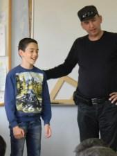 Михаило Љубеновић са писцем