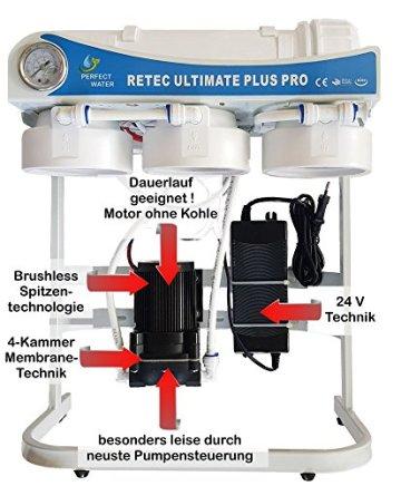 Osmoseanlage 600 GPD Perfect Water No. 1 Ultimate Plus PRO 2019 Direct Flow kein Tank nötig Umkehrosmosewasserfilter Wasserfilter Trinkwasser Umkehrosmose Reverse Osmosis - 2