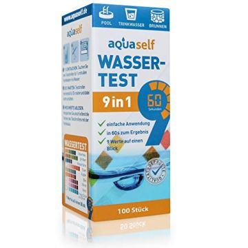 aquaself 9-in-1 Wassertest - 100 Stück Trinkwasser Teststreifen zur Überprüfung der Wasserqualität - inkl. gratis E-Book - 3