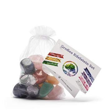 Großes Wasseredelstein-Set | Mischung mit 7 beliebten Sorten | Premium Wassersteine zur Herstellung von Edelsteinwasser | Edelsteine - 4