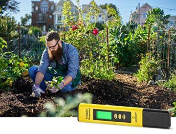 Measury EC Meter Tester TDS Messgerät für Osmoseanlage, Aquarium und Trinkwasser, Leitwertmessgerät mit Thermometer, Leitfähigkeitsmessgerät - 5