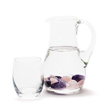 Premium Edelsteinwasser Basis-Mischung | Edelstein Grundmischung: Rosenquarz, Amethyst, Bergkristall | Wassersteine / Heilsteine getrommelt - 2
