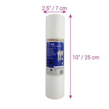 Water2buy Universal 5Stufen Umkehrosmose komplett Wasser Filter Ersatz-Set, weiß, 5Stück - 3