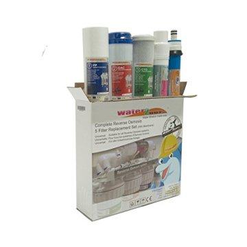 Water2buy Universal 5Stufen Umkehrosmose komplett Wasser Filter Ersatz-Set, weiß, 5Stück - 1