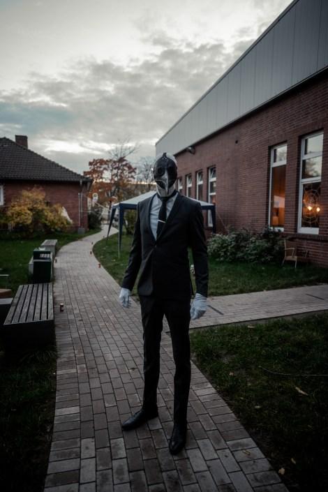 Verkleideter Gast zu Halloween im OSNABLOC