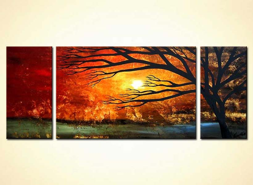 Fall In Love Couples Wallpapers Painting For Sale Multi Panel Canvas Landscape 3547