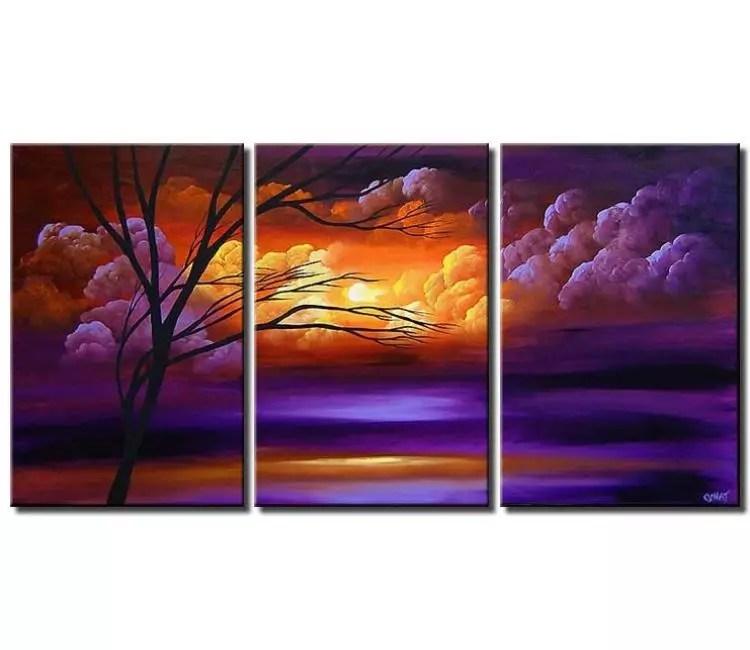 Painting for sale  1 multi panel canvas landscape 3803