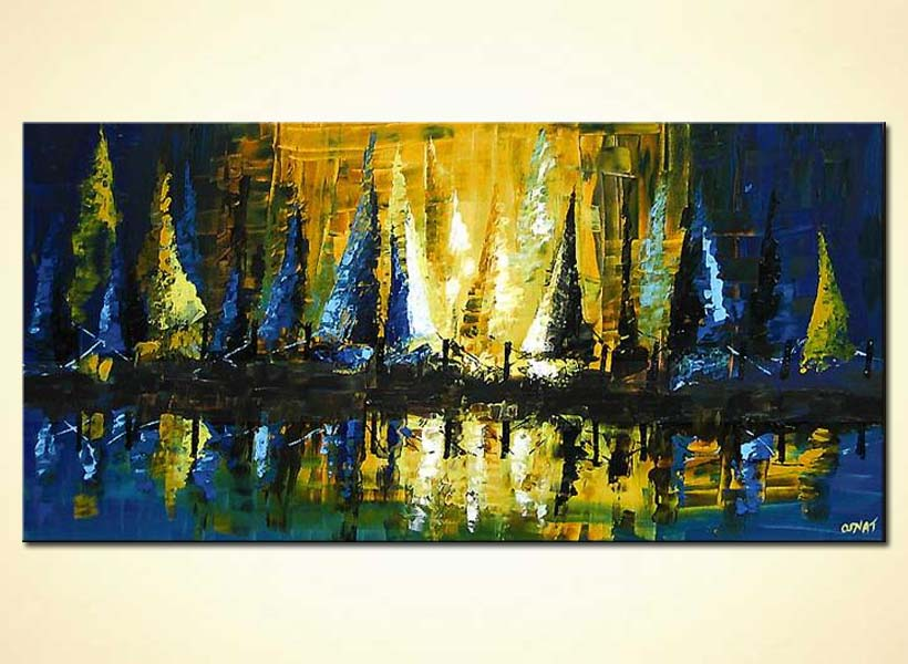 Painting for sale  sailing boats at sunset 4155