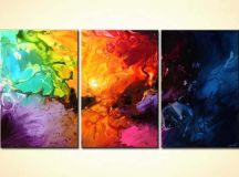 Colorful Abstract Paintings On Canvas - Defendbigbird.com