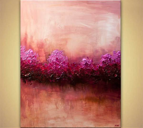 Painting - Large Modern Pink Abstract Art Home
