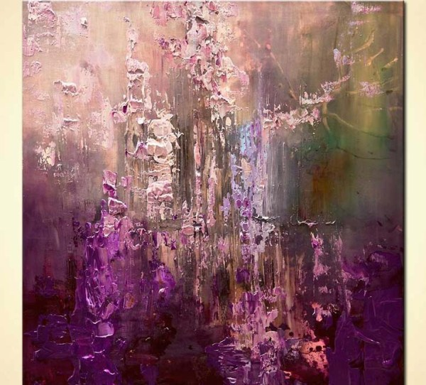Purple Abstract Art Painting