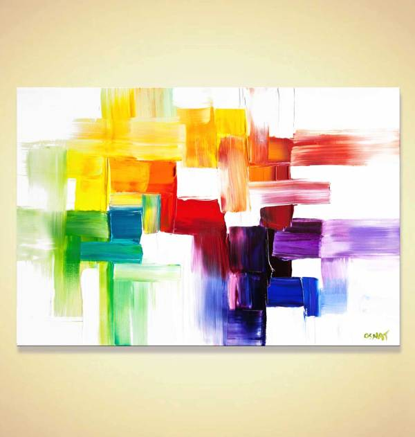 Painting - Modern Colorful Abstract #8086