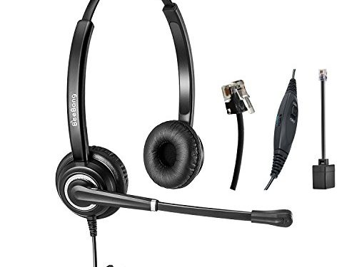 Telefon Headset Dual Ohr RJ9 verdrahtet Call Center