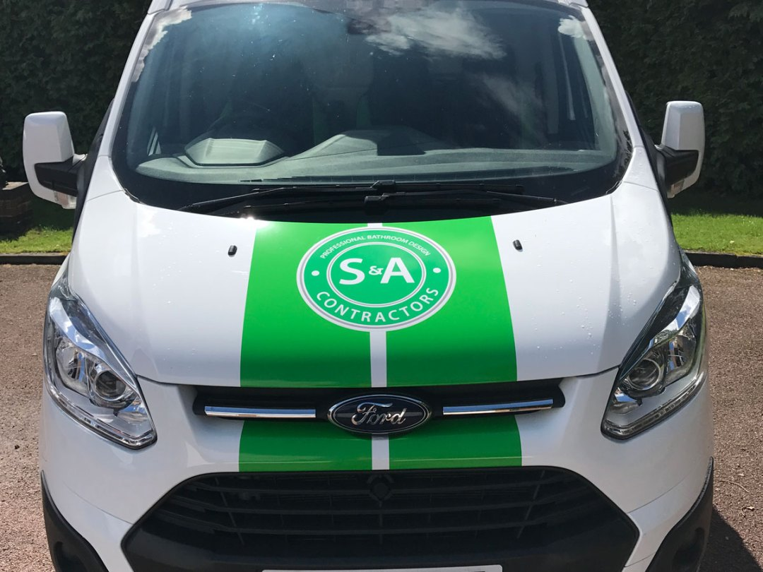 S&A white van front