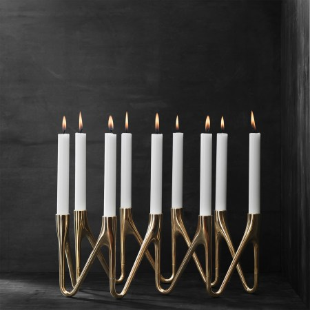 morso roots candlestick holder in brass