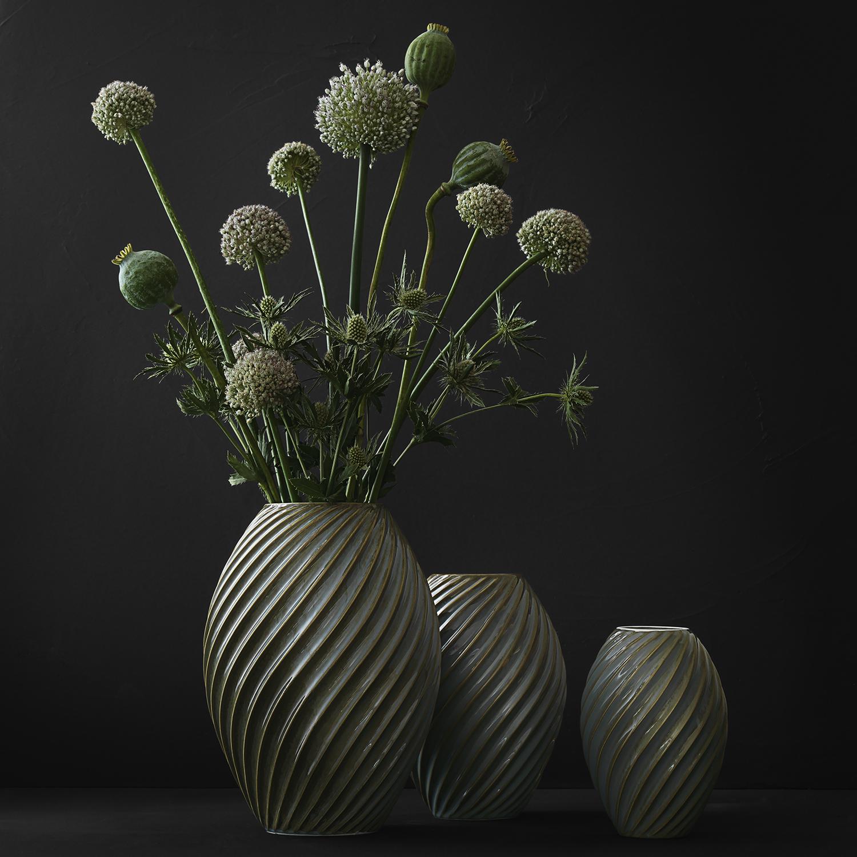 morso river vase in green