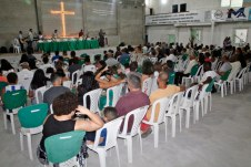 Culto de emancipação da Igreja Batista no bairro Castelinho. Fotos: Elizeu Portugal/OSollo