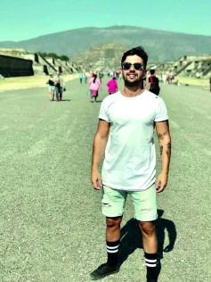 O simpático fisioterapeuta Carlos Chaves visitando a cidade e o sítio arqueológico de Teotihuacán, localizada há 48 km a nordeste da atual Cidade do México, na sua trip de férias pelo México