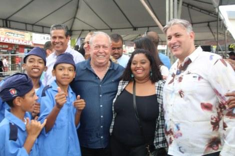 Prefeito Temóteo acompanha visita do governador a Medeiros Neto. Fotos: Elizeu Portugal/OSollo