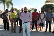lajedao prefeito tonzinho limpeza publica prefeitura gari entrega de uniforme caminhao tele entulho compactador (12)