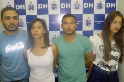 Hudão, Grazielle, Ramon e Amanda foram presos com metralhadora