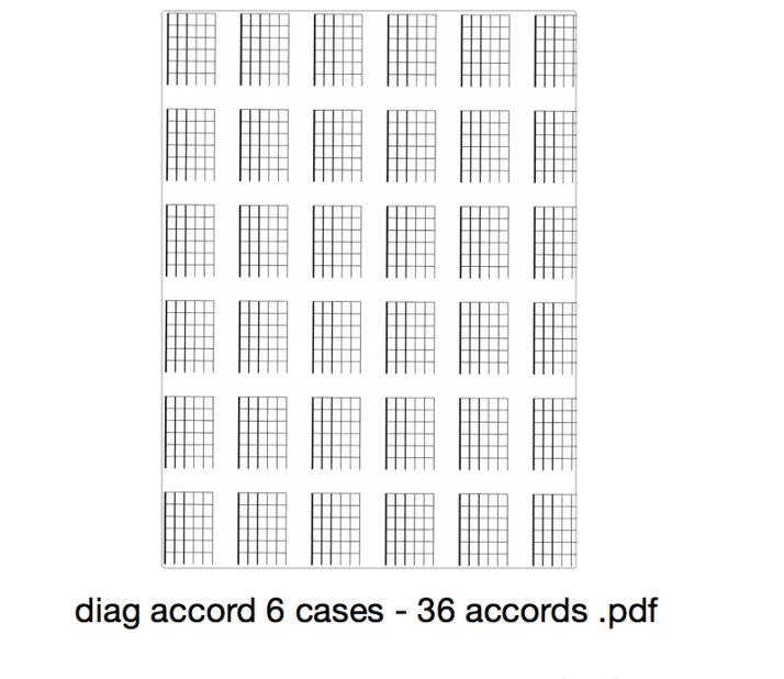 diag accord 6 cases - 36 accords