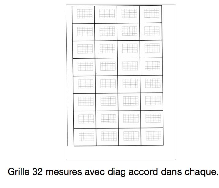 grille 32 mesures avec diag accord dans chaque
