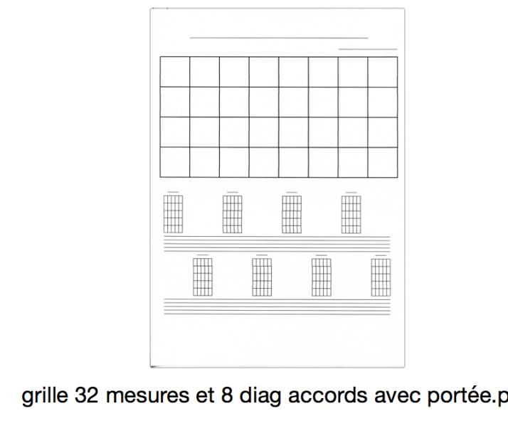 grille 32 mesures et 8 diag accords avec portée