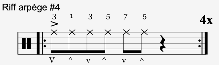 riff arpège #4