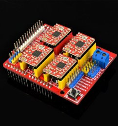 a4988 support 1 segment 1 2 segment 1 4 segment 1 8 segment 1 16 segment each segment is set by the m0 m1 m2 pin header in the arduino cnc shield  [ 1000 x 1000 Pixel ]