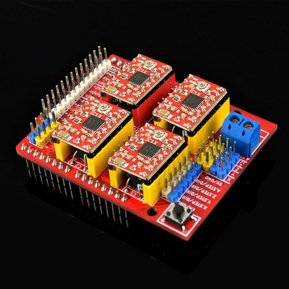 medium resolution of a4988 support 1 segment 1 2 segment 1 4 segment 1 8 segment 1 16 segment each segment is set by the m0 m1 m2 pin header in the arduino cnc shield