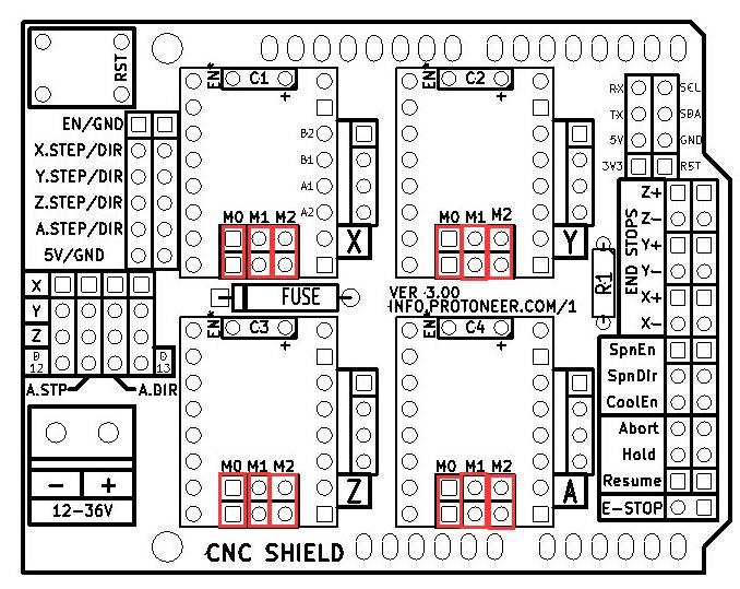 Arduino UNO + Arduino CNC Shield V3.0+A4988 Installation