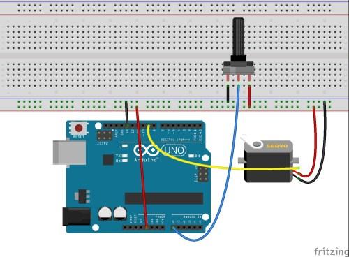 small resolution of arduino servo knob