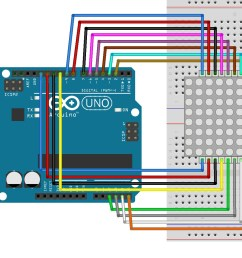 arduino lesson 8 8 led matrix osoyoo com 8x8 led matrix using arduino microcontroller circuit diagram code [ 1419 x 1077 Pixel ]